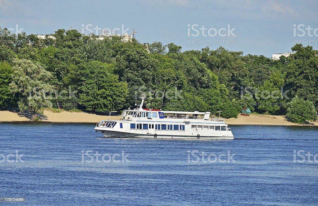 Motor travel river ship royalty-free stock photo