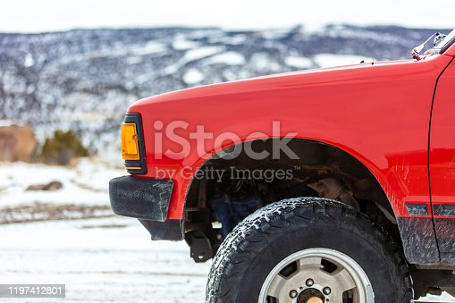 In Western Colorado Vehicle Shot Close with Specific Part in Focus Series In Western Colorado Vehicle Shot Close with Specific Part in Focus Series pre 1985 pickup (Shot with Canon 5DS 50.6mp photos professionally retouched - Lightroom / Photoshop - original size 5792 x 8688 downsampled as needed for clarity and select focus used for dramatic effect)