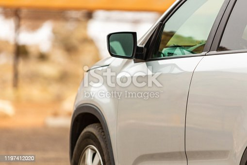 In Western Colorado Vehicle Shot Shallow DOF with Side Panel in Focus Series (Shot with Canon 5DS 50.6mp photos professionally retouched - Lightroom / Photoshop - original size 5792 x 8688 downsampled as needed for clarity and select focus used for dramatic effect)