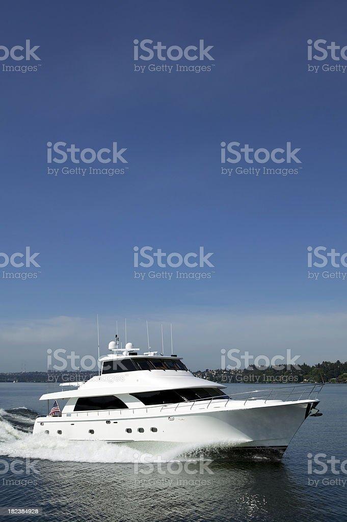 motor yacht luxury royalty-free stock photo