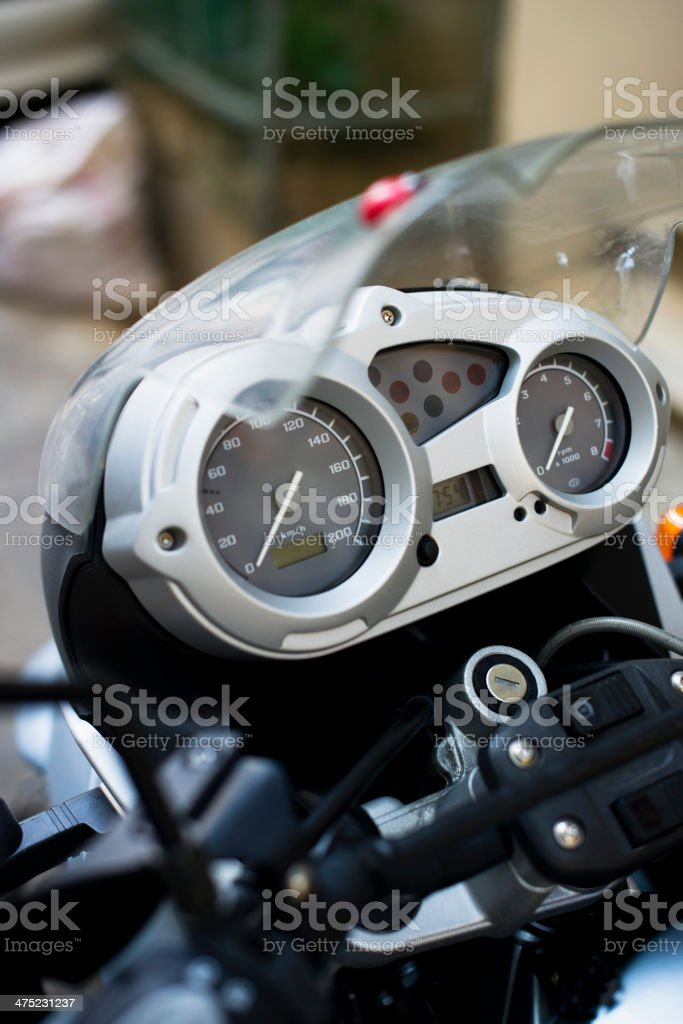 Motorbike Dashboard stock photo