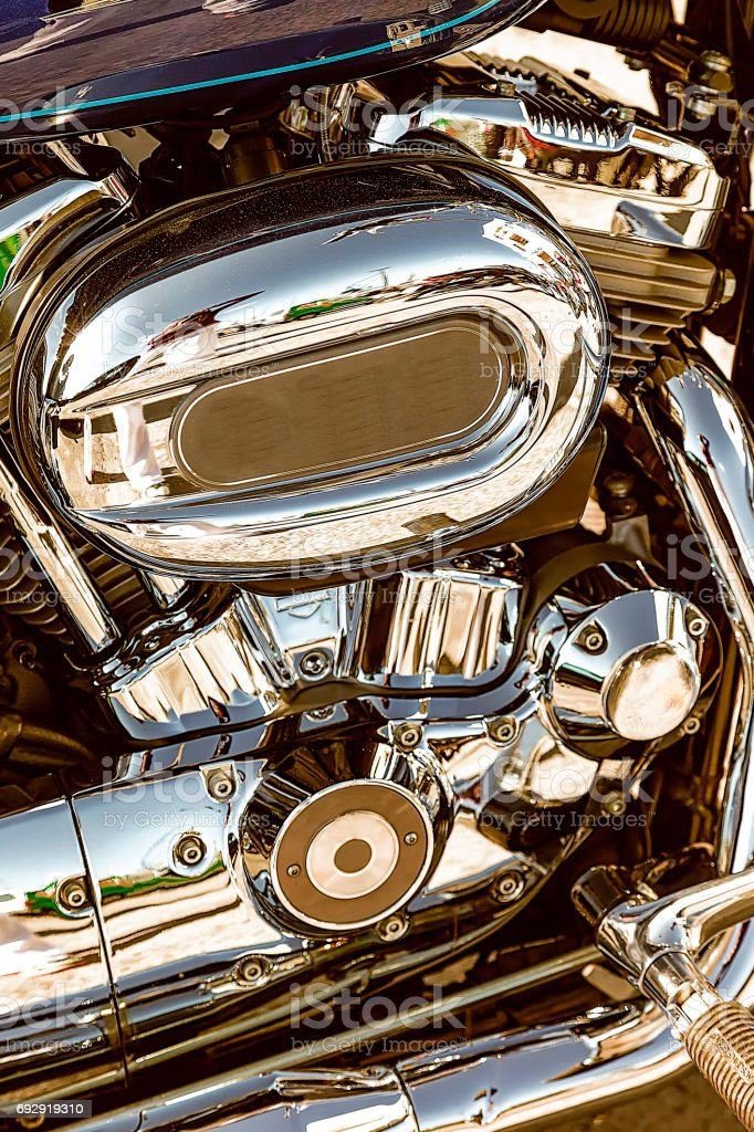 Motorbike Engine stock photo