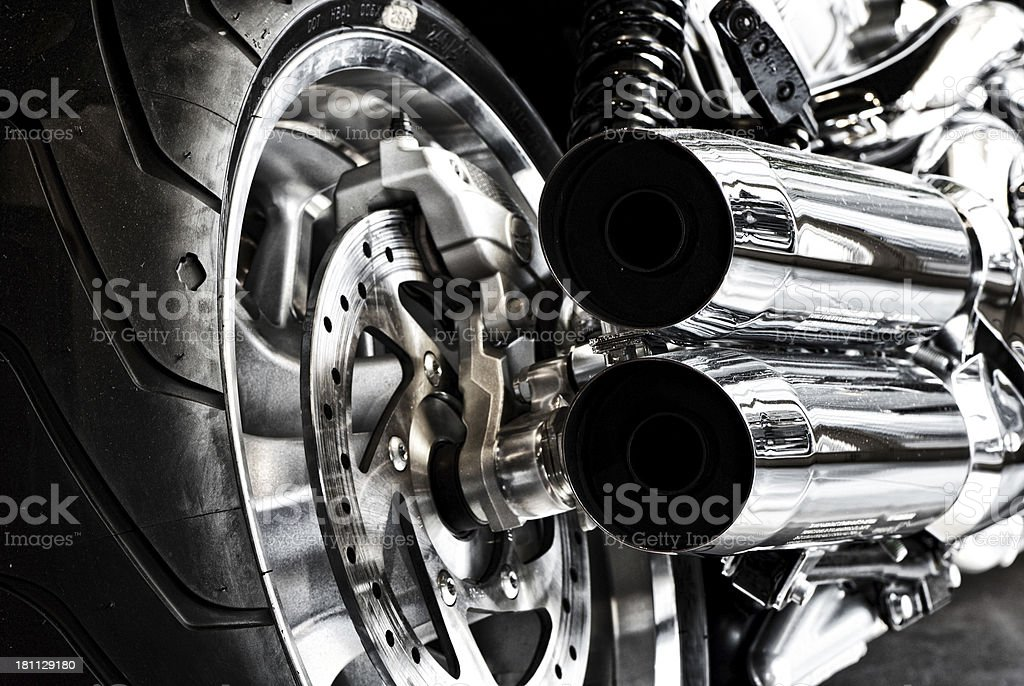 Motorbike Exhaust stock photo