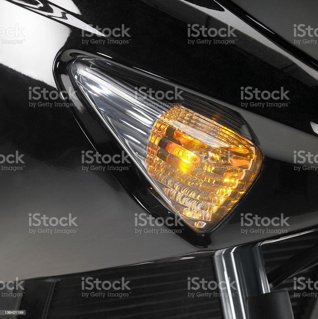 motorbike flasher stock photo