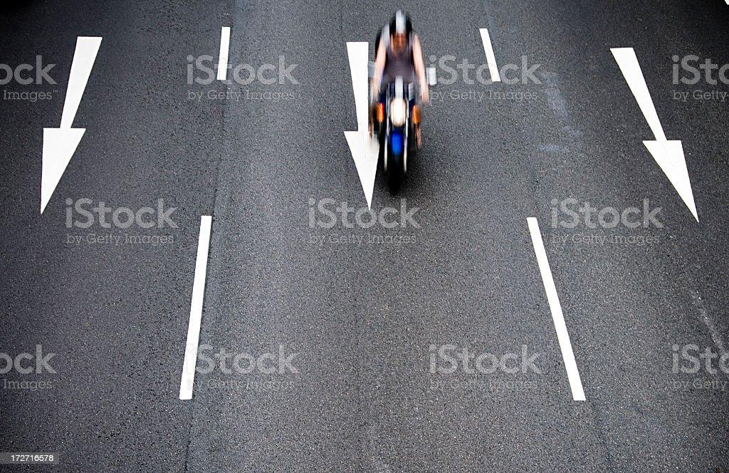 Motorbike Hurry royalty-free stock photo