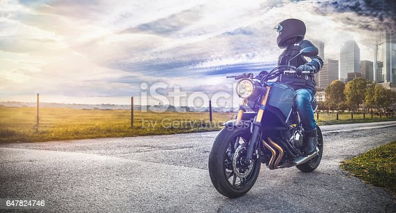istock motorbike on the road in nature Landscape 647824746