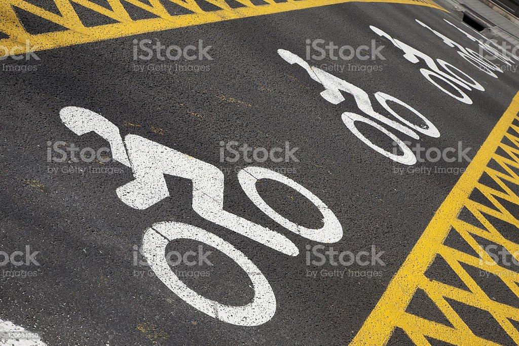 Motorbike Symbols in Barcelona royalty-free stock photo