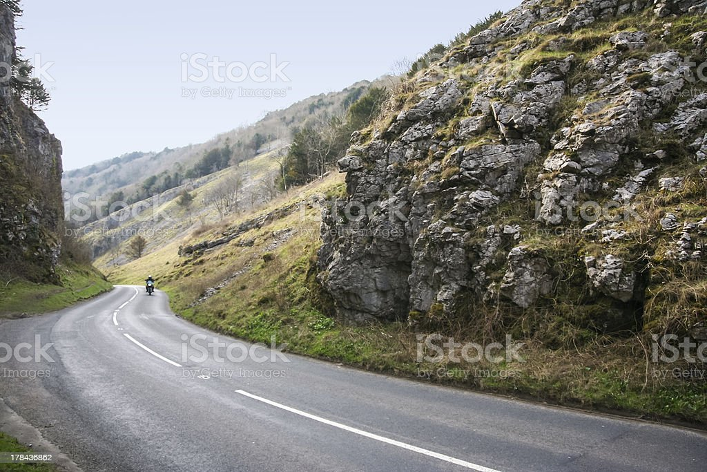 motorbike tour cheddar gorge somerset england stock photo