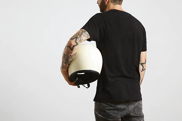 Motorbike t-shirt mockups stock photo