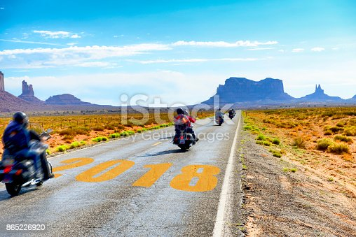 istock Motorbikers traveling to New Year 2018 865226920