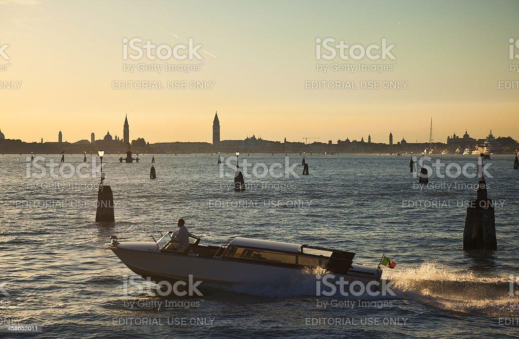 Motorboat near Venice royalty-free stock photo