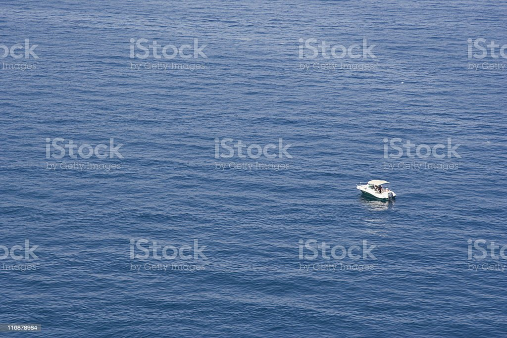 motorboat on the ocean royalty-free stock photo