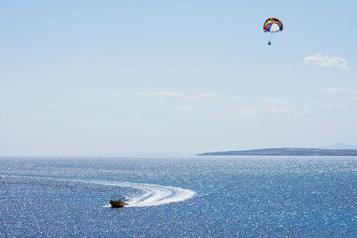 istock Motorboat parasailing 1149905324
