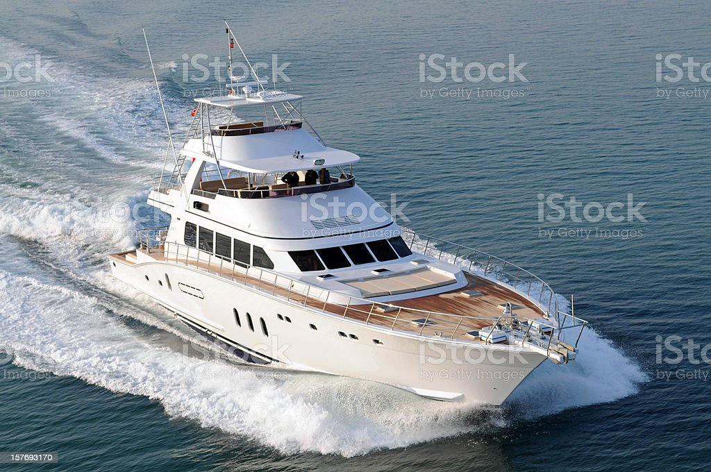 Motorboat stock photo