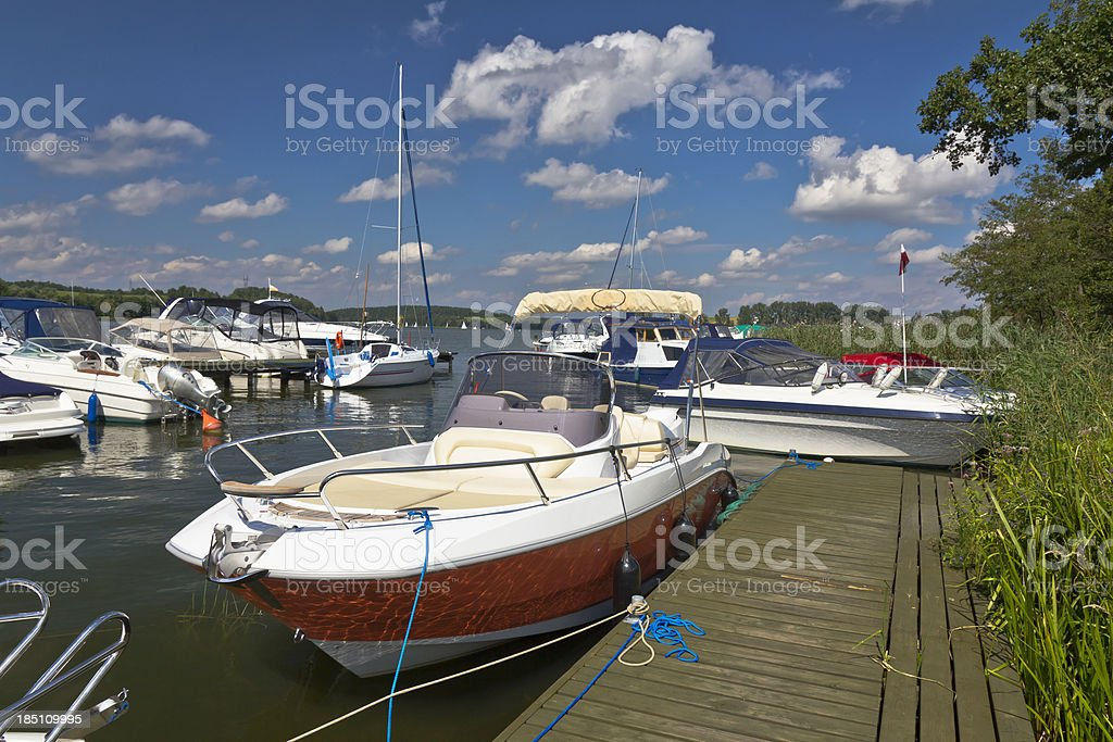 Motorboats in Marina royalty-free stock photo