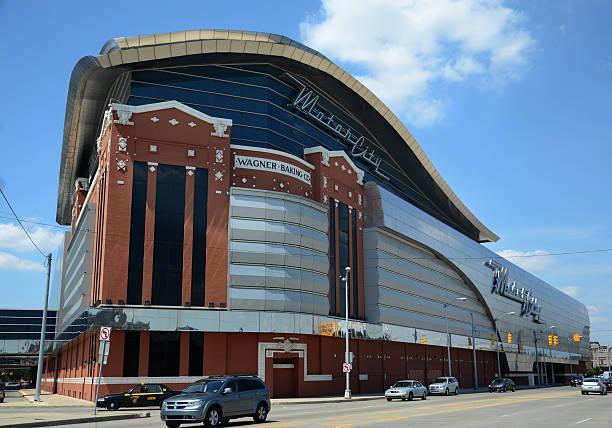MotorCity casino in Detroit, MI stock photo