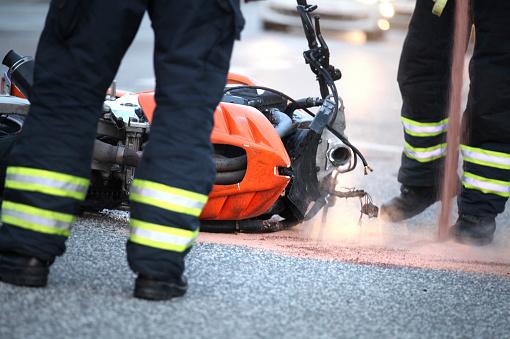 Motorcycle accident - Motorradunfall