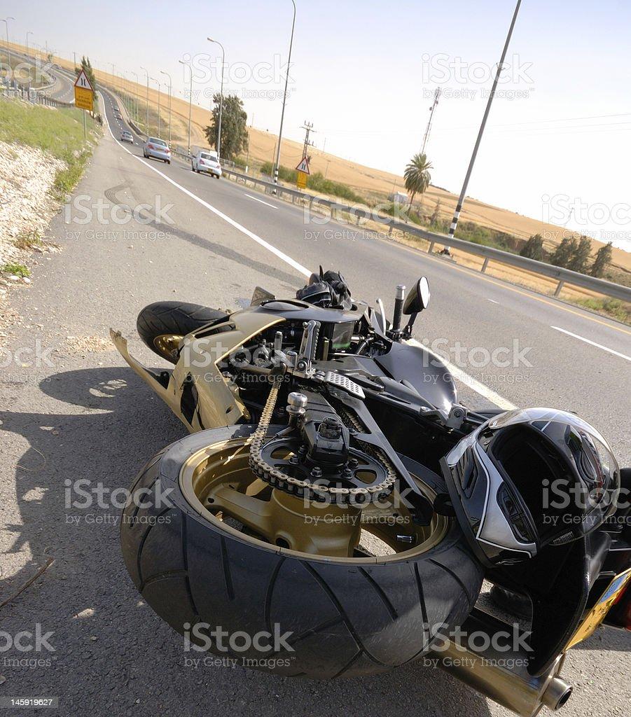 motorcycle accident stock photo