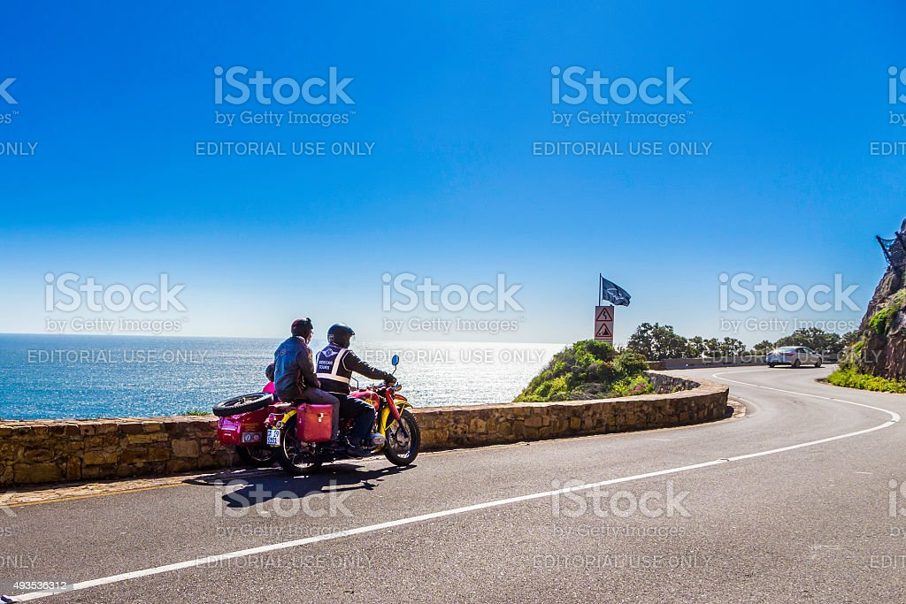 Motorcycle and sidecar tours in Cape Town stock photo