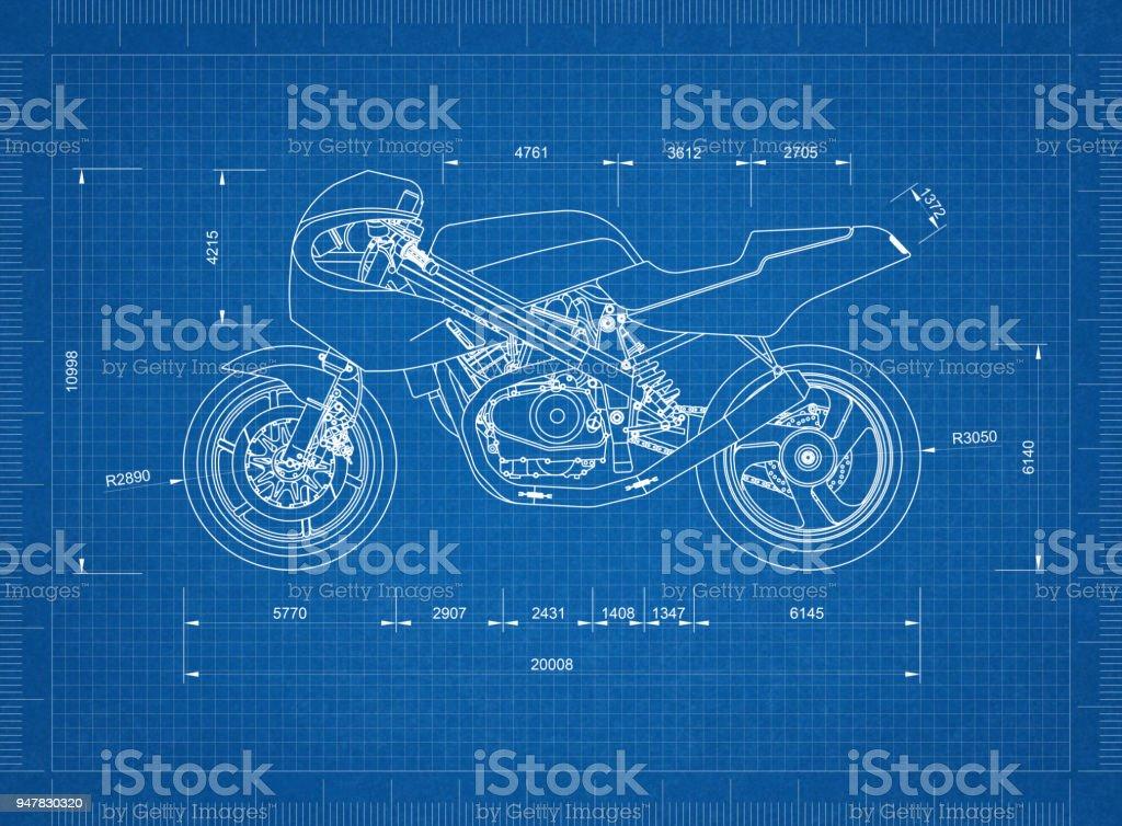 Motorrad-Bauplan – Foto