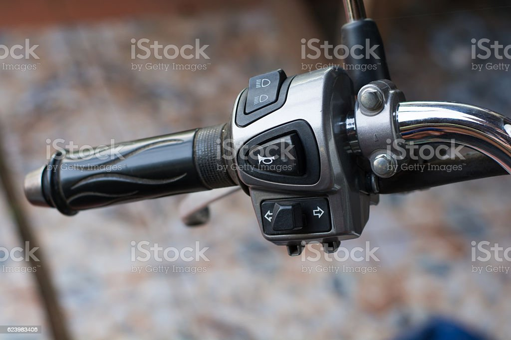 Motorcycle control panel stock photo