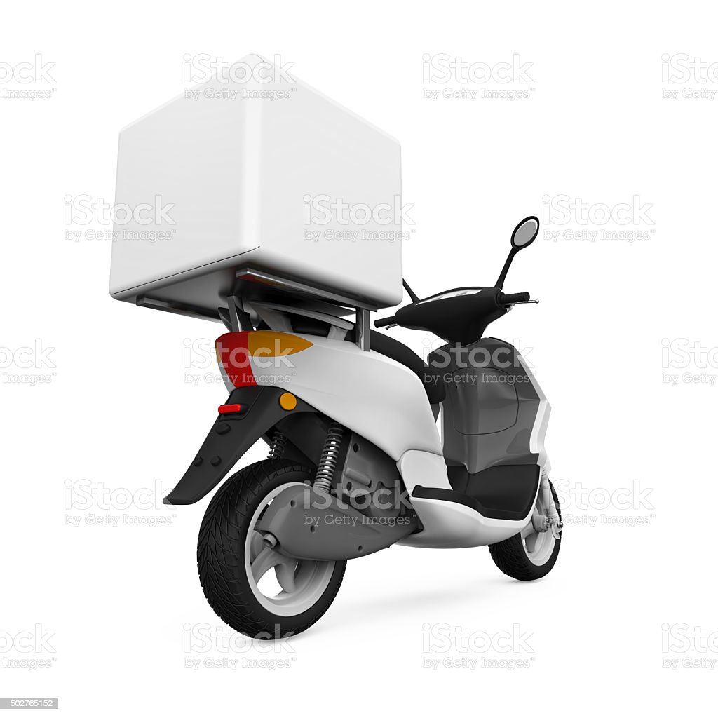 Motorcycle Delivery Box stock photo