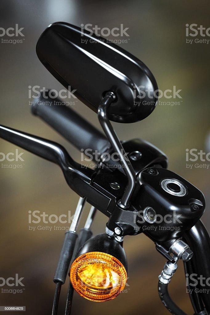 Motorcycle detail stock photo