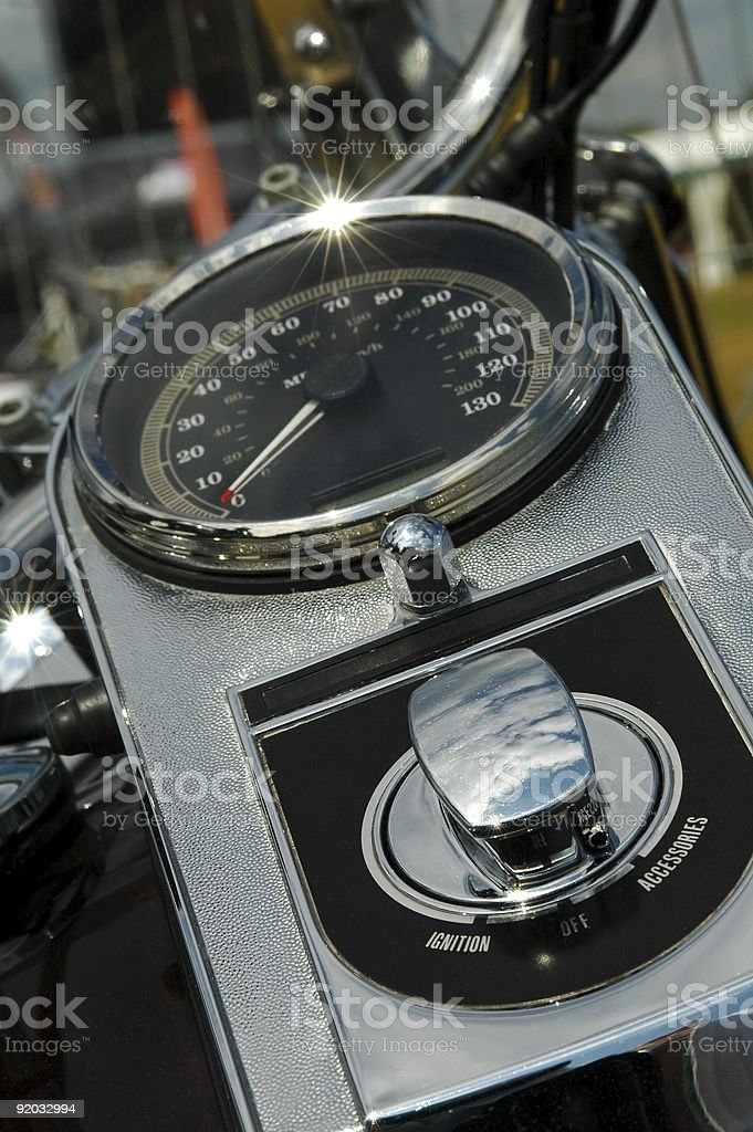 motorcycle dials royalty-free stock photo