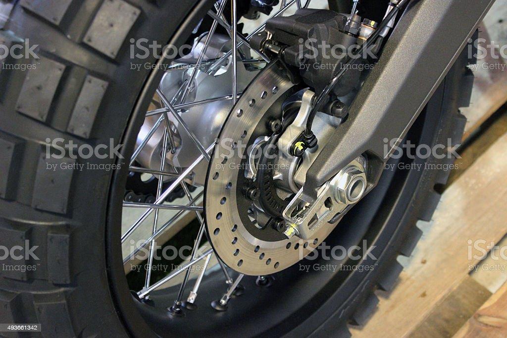 Motorcycle Disk Brake stock photo