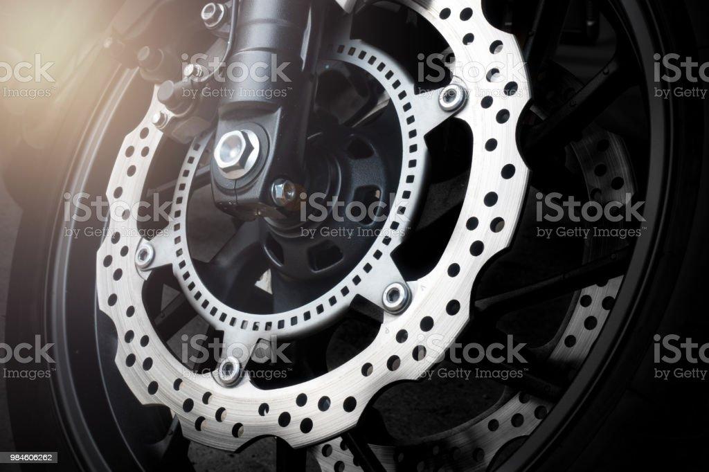 Moto freno de disco con sistema ABS - foto de stock