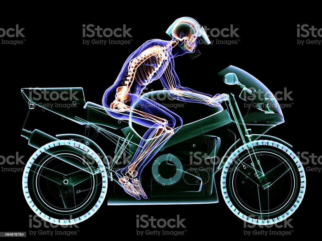 Motorcycle Driver Anatomy Stock Photo & More Pictures of 2015 | iStock