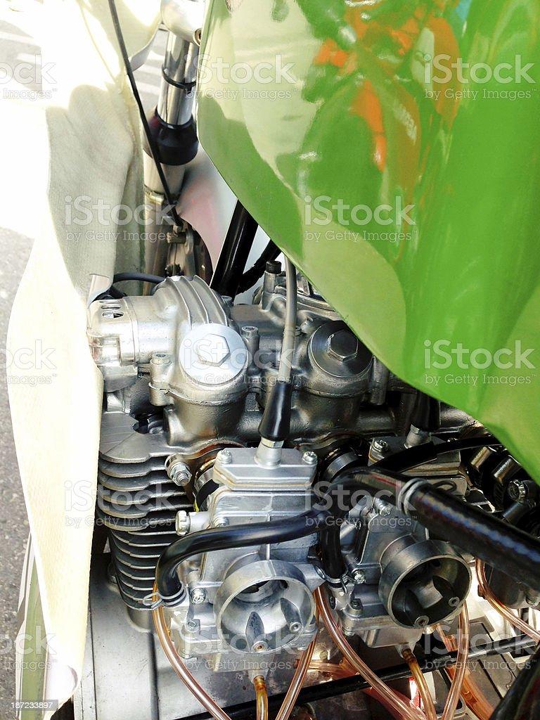Motorcycle Engine Close Up royalty-free stock photo