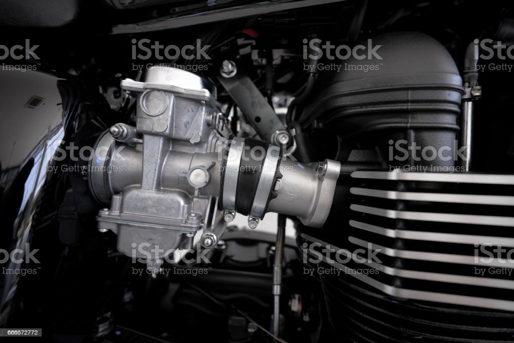 Motorcycle engine design stock photo
