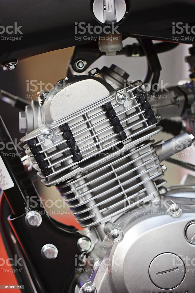 Motorcycle engine royalty-free stock photo