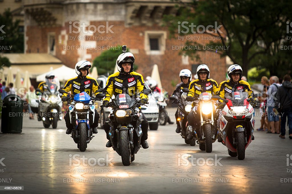 Motorcycle escort for Tour de Pologne royalty-free stock photo