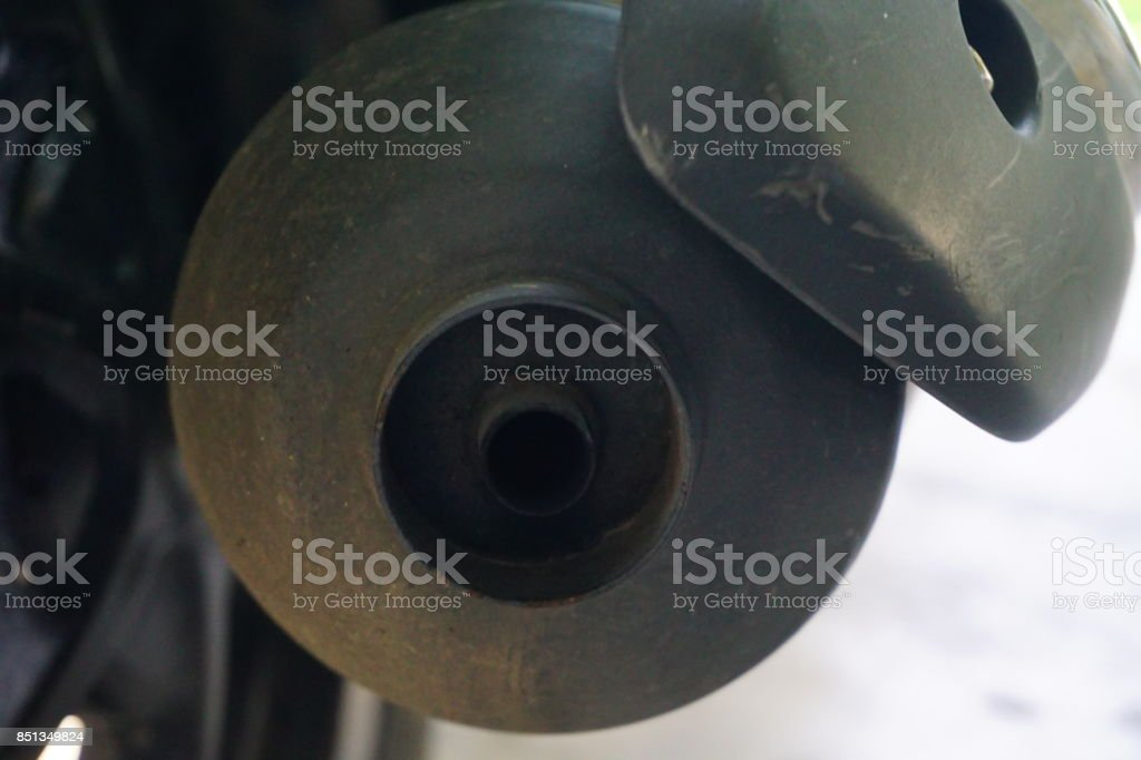 Motorcycle Exhaust stock photo