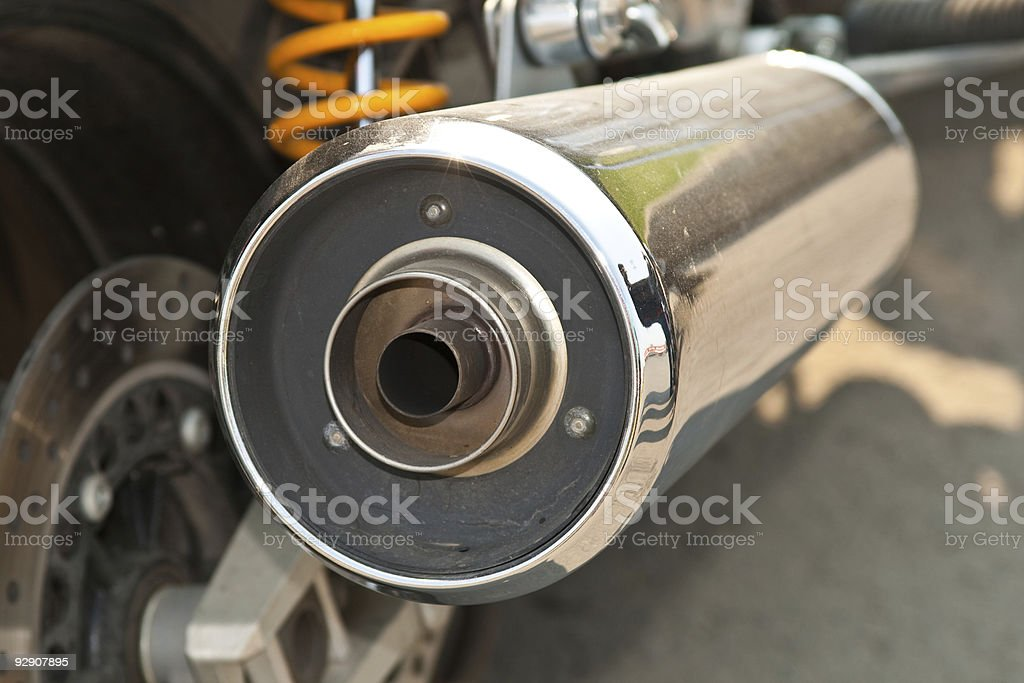 Motorcycle Exhaust royalty-free stock photo