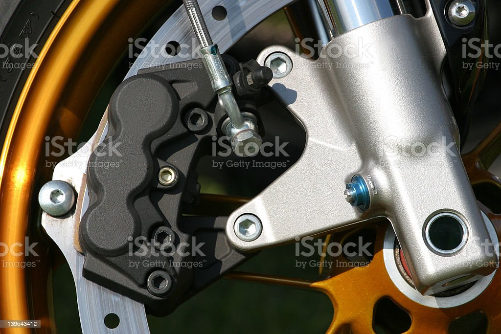 Motorcycle front end royalty-free stock photo
