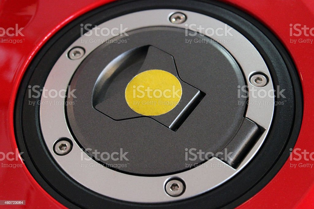 Motorcycle Fuel Tank Cap stock photo