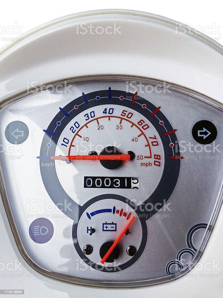 Motorcycle gauges royalty-free stock photo