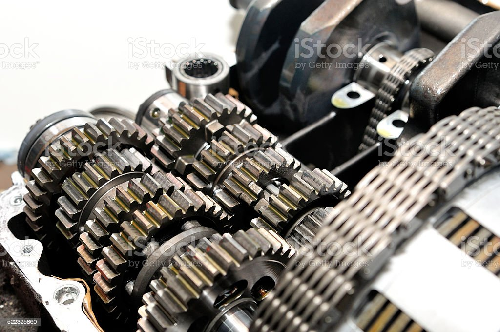 Motorcycle Gearbox With Clutch In Front Stock Photo - Download Image Now -  iStock   Gear Box Of Motorcycle      iStock