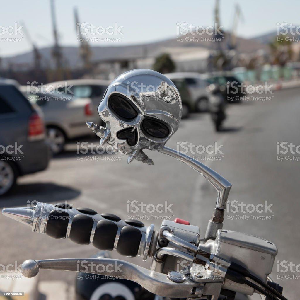 Motorcycle Handlebars stock photo