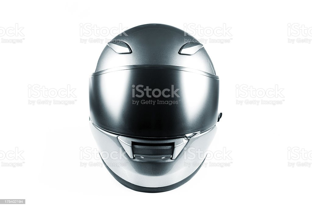 motorcycle helmet on white stock photo