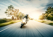 istock Motorcycle in blurred motion 1281248765