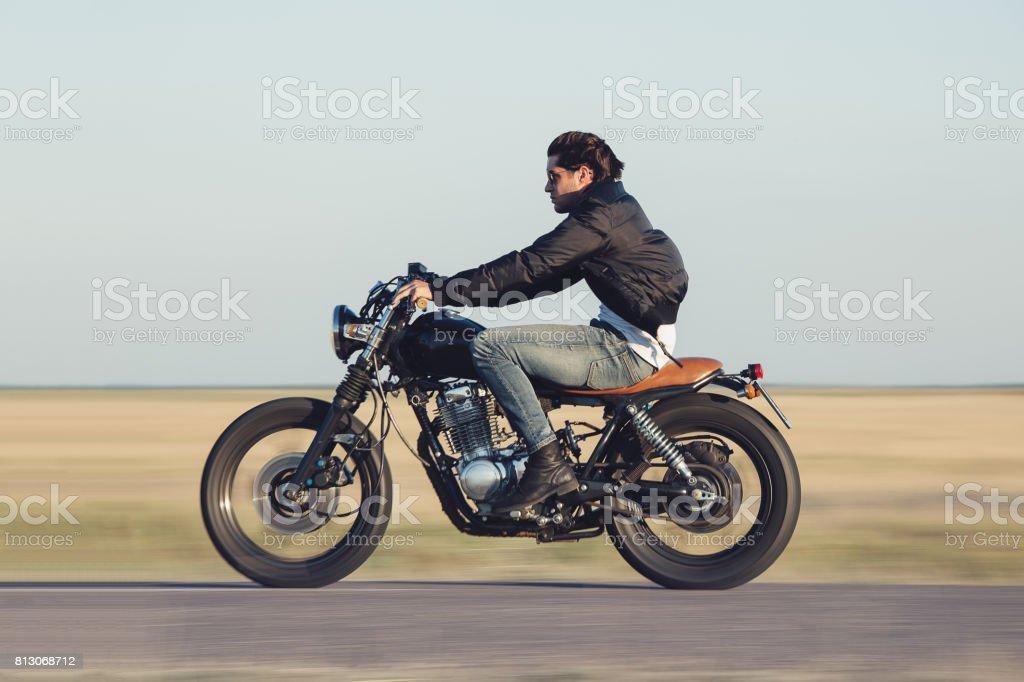Motorrad Mann – Foto