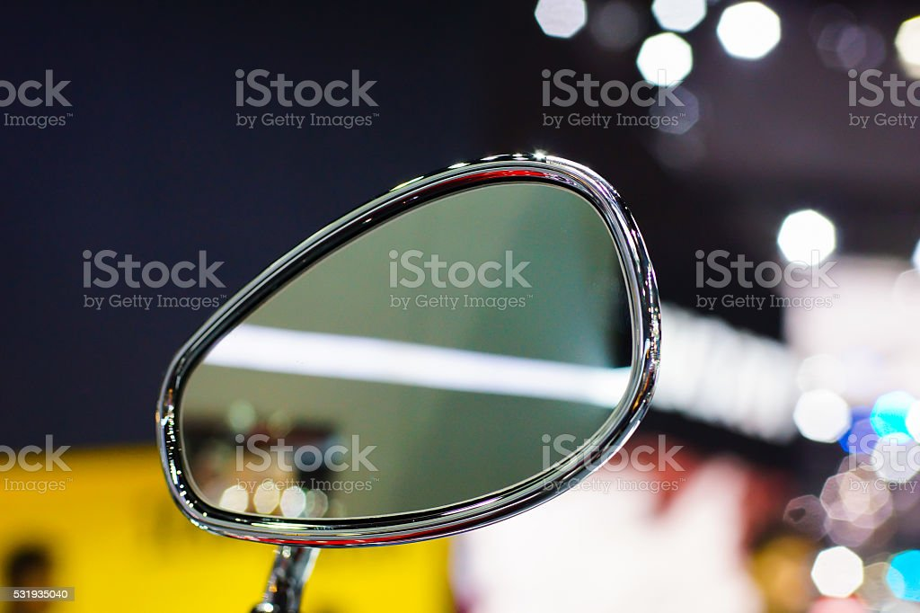 motorcycle mirrors stock photo