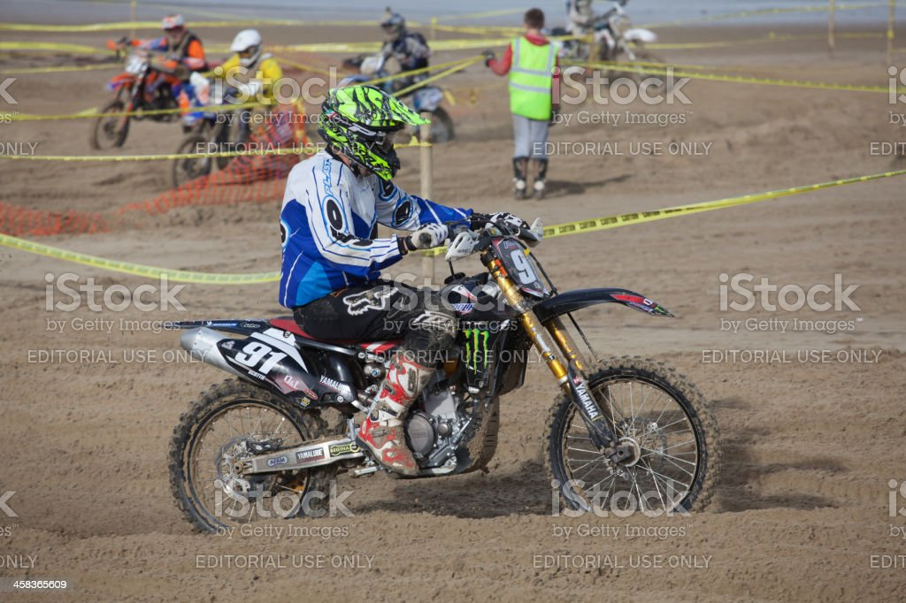 Motorcycle Motocross Dirt Bike Race On The Beach At Weymouth Stock Photo Download Image Now Istock