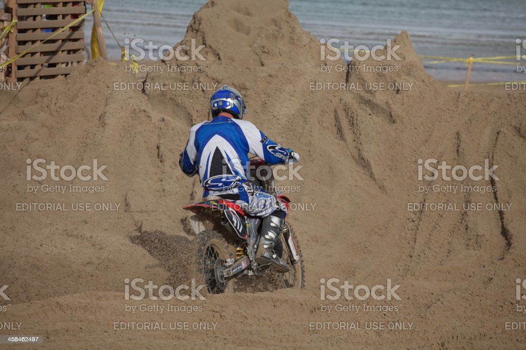 Motorcycle Motocross Dirt Bike Race On The Beach Stock Photo Download Image Now Istock