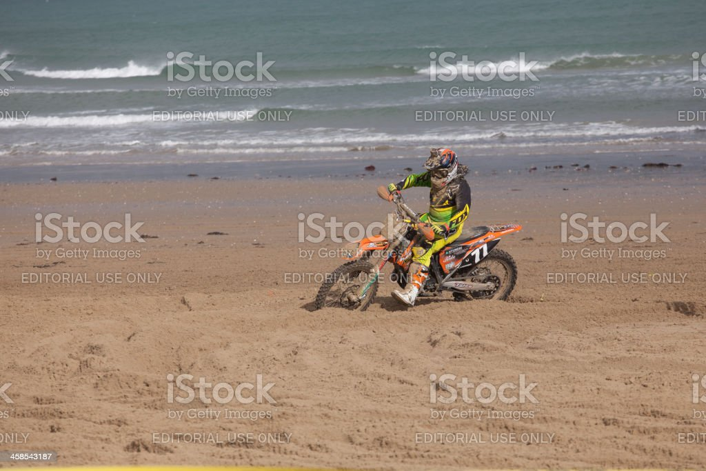 Motorcycle Motocross Dirt Bike Race On The Beach Stock Photo Istock