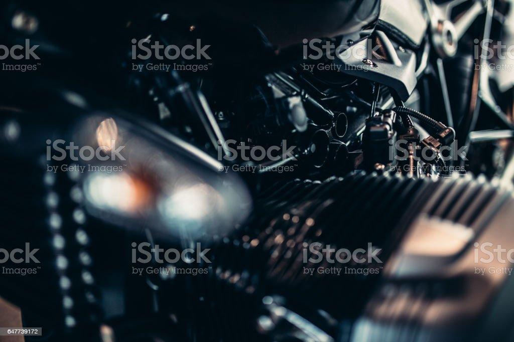 Motorcycle motor stock photo